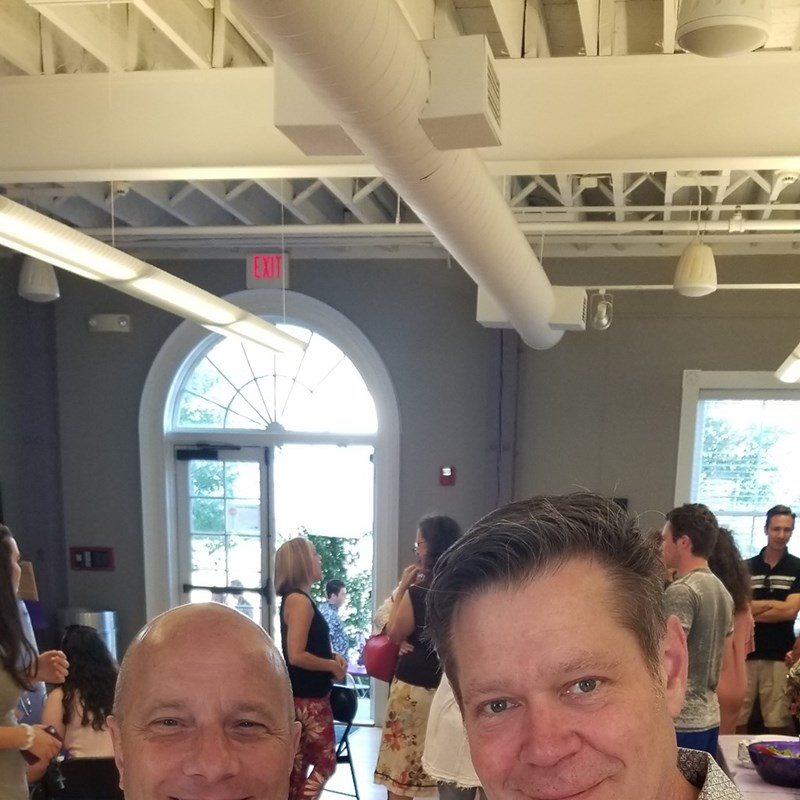 At JRs Graduation Party at the Solon Center for the Arts with Bob McMurray.