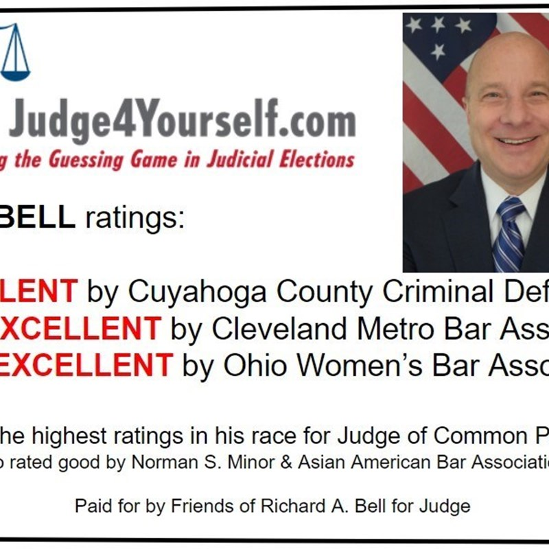 For the General Election, November 3rd 2020, Richard A Bell received the most excellent ratings in his race. Judge4Yourself.com