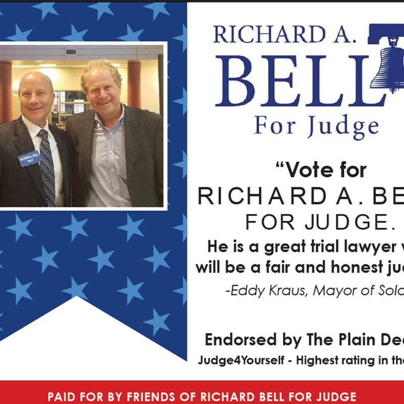 Solon Mayor, Ed Kraus Endorses Richard A. Bell (advertisement for the Primary Election March 17, 2020).