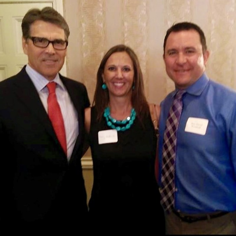 Constable David and Amy Woodruff with former Texas Governor Rick Perry