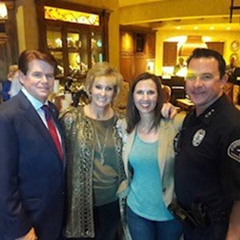 Constable David Woodruff with his wife, Amy and Mayor Jeff Williams and his wife, Karen.
