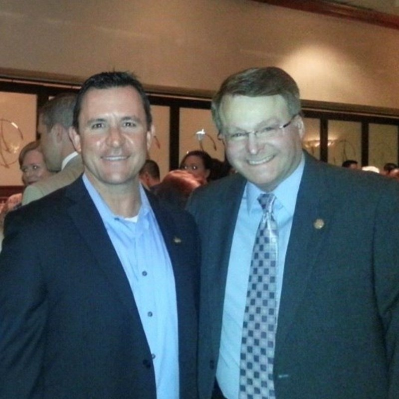 Constable David Woodruff with Senator Brian Birdwell.
