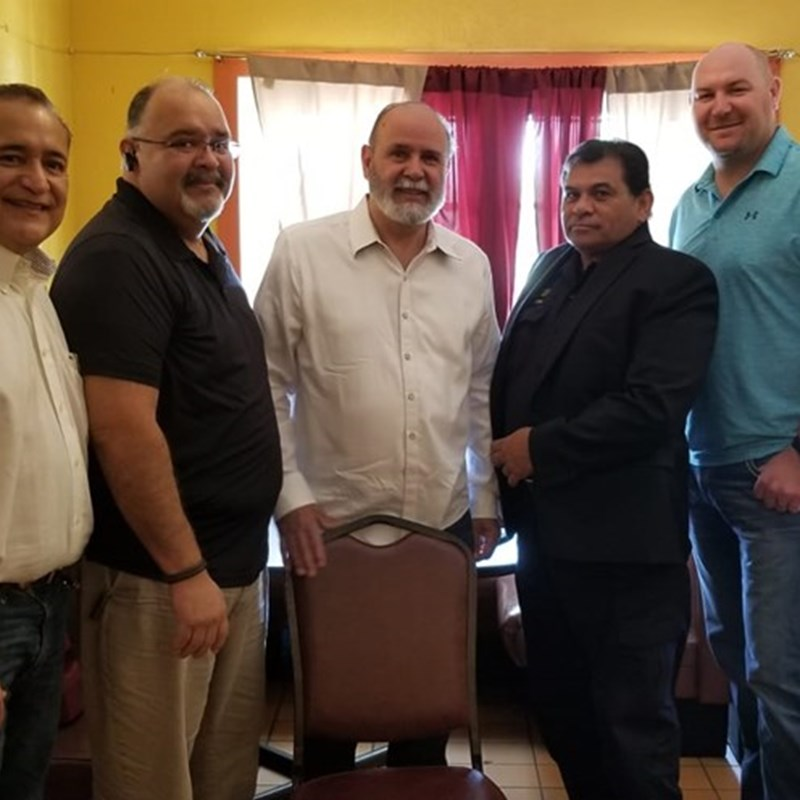 From left to right: Ruben Villarreal, Attorney Rey Ramirez, Joe Alvarado, & TX-D28 Candidate Gary J. Hale.   President Marty Rocha & Shawn Kiezer
