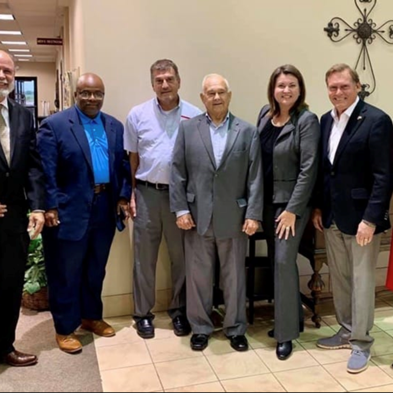 From left to right: Gary J. Hale, Mr. Henry Dibrell, Mr. Alen Stobbe, Mr. Bill Caligari, Ms. Wendy Duncan, Dr. John Zerwas (Outgoing Texas House District 28 Representative) and Dr. Anna Allred.