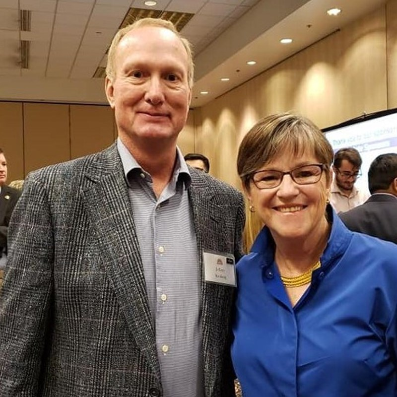 Jeff Stroberg with Governor Laura Kelly