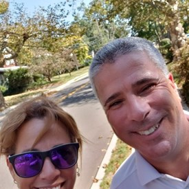 Cyndi and Councilman Rob Acerra asking for votes in Oakhurst