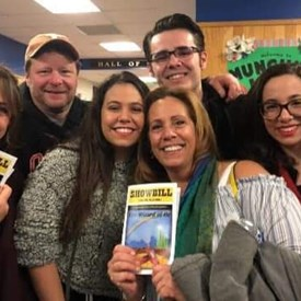 Cyndi and her family supporting Arts in Schools