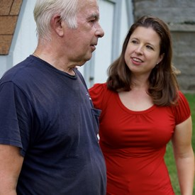 Vicki with her dad, Michael Lorenz, summer of 2014.