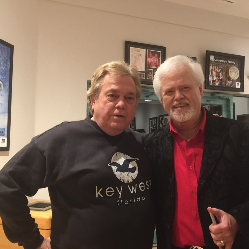 With another one of my twins Merrill Osmond