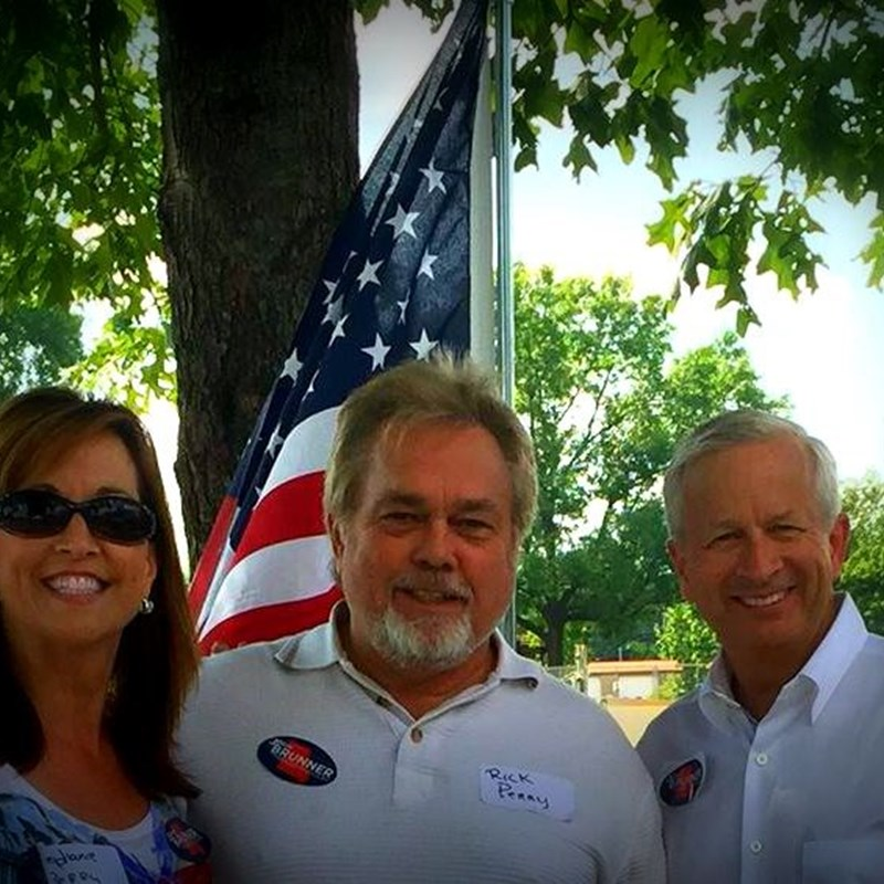 With two of my favorite patriots--my daughter Stephanie and John Brunner