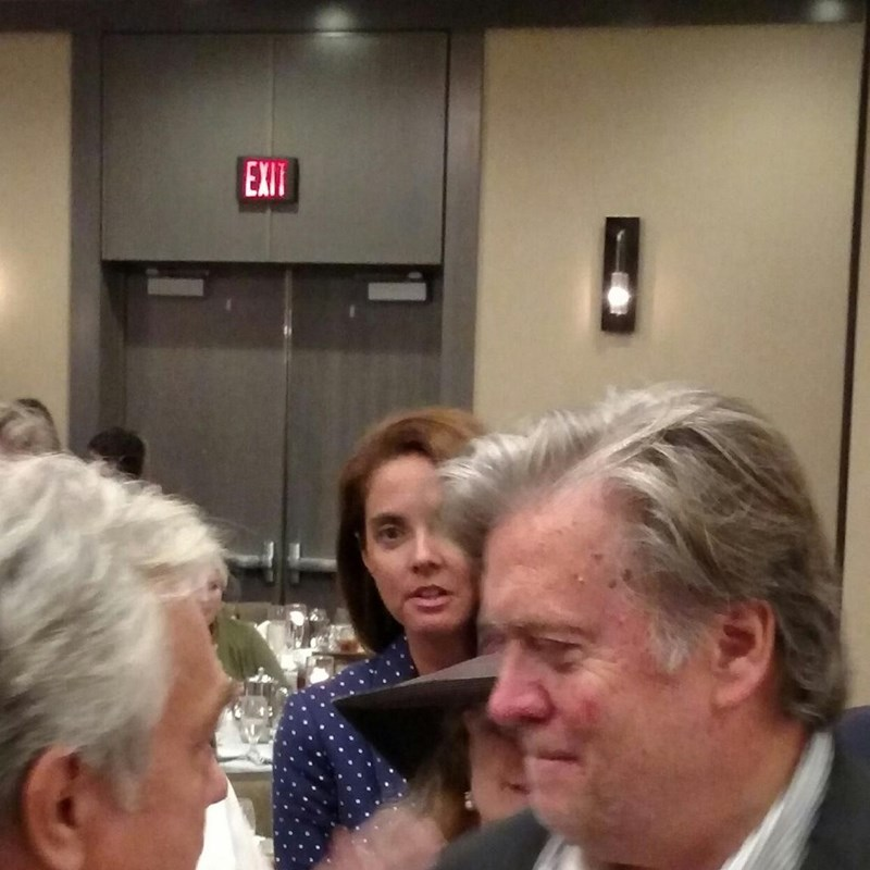 With one of my twins Steve Bannon