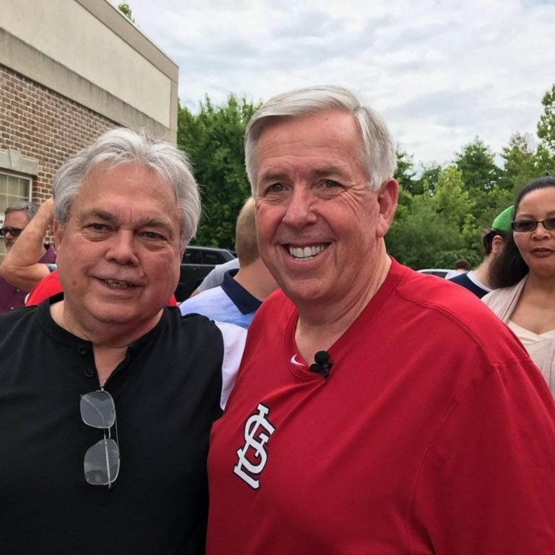 With Governor Mike Parson