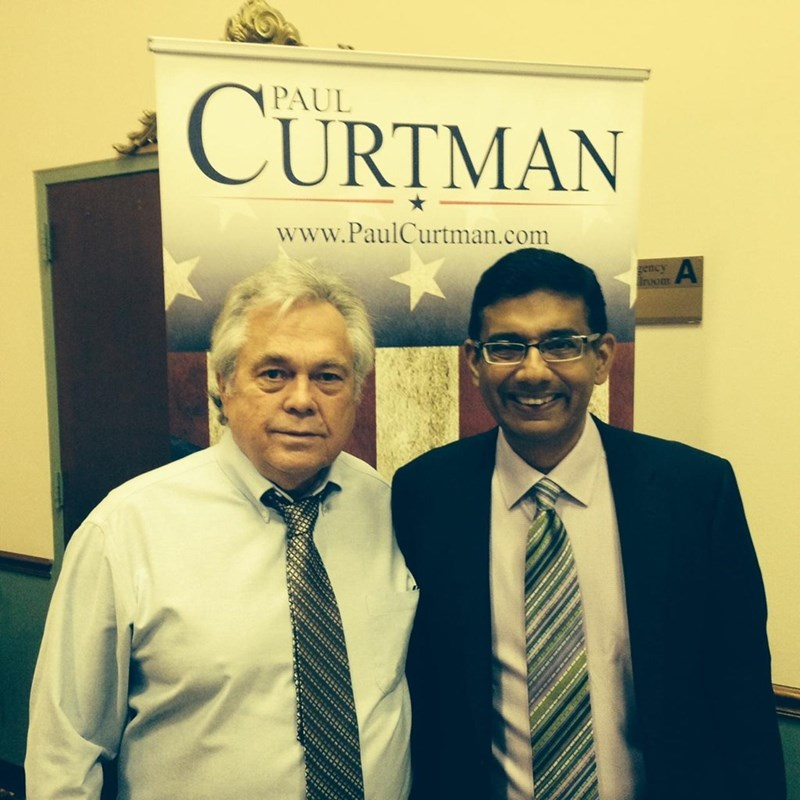 With Dinesh D'Souza