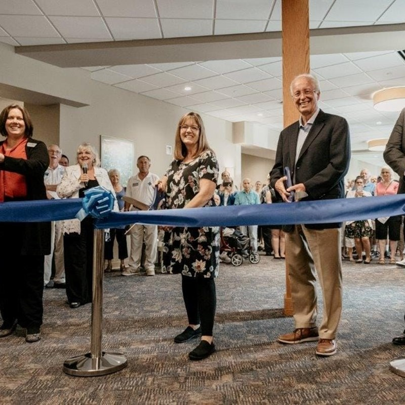 Ribbon Cutting Warren Township new Senior Center
