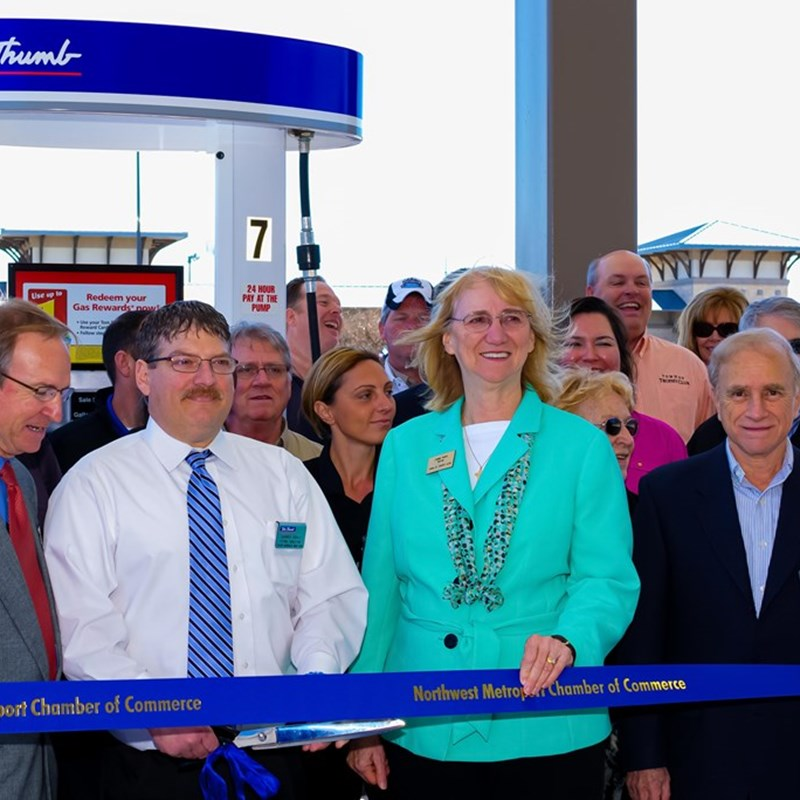 Tom Thumb Gas Station Ribbon Cutting
