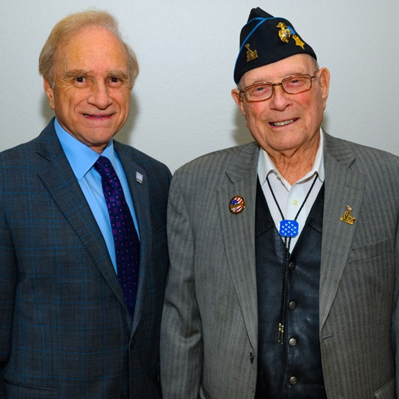 Medal of Honor Recipient Woody Williams for the Battle of Iwo Jima of service above self