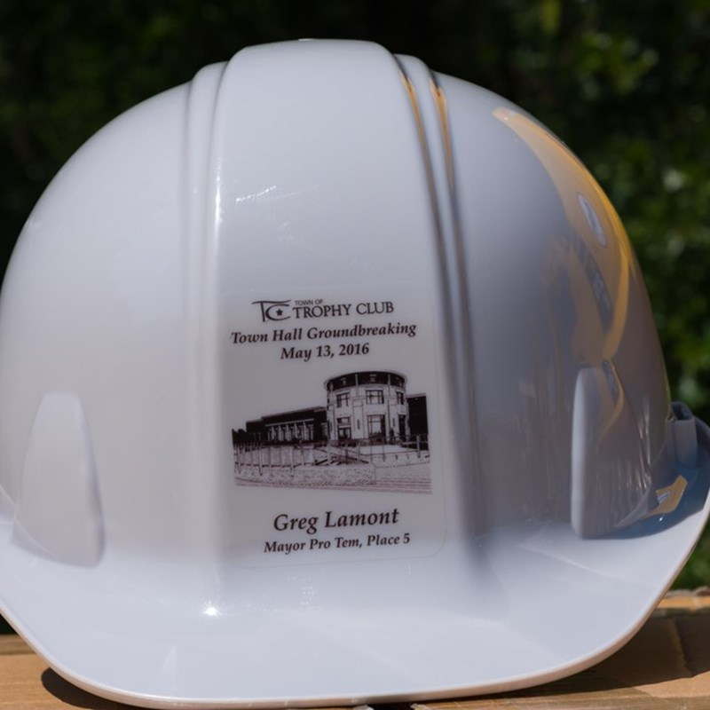 Ground Breaking Hat for the new Town Hall