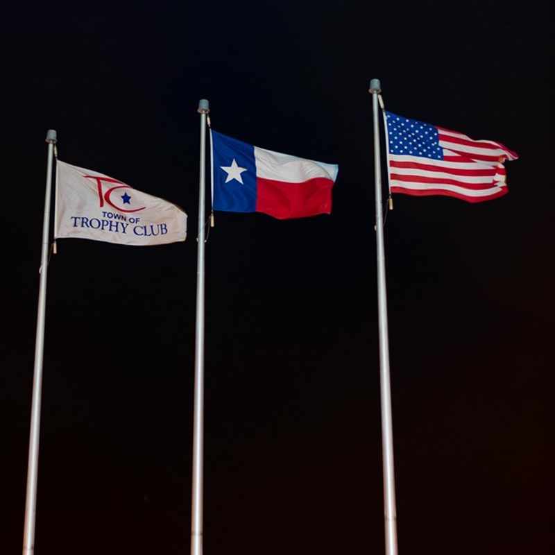Our Flags at the Baseball fields
