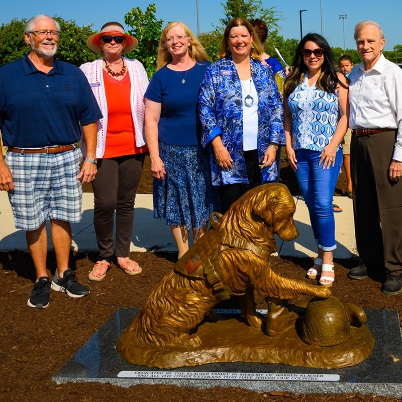Service Dog Statute dedication at the Veterans Park