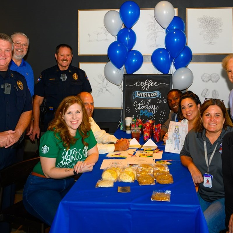 Coffee with the Cops Event at StarBucks.