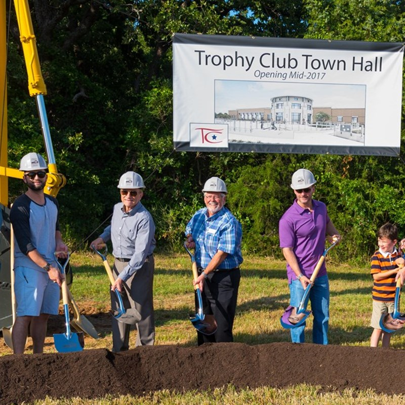Ground Breaking for the New Town Hall and Police Facility