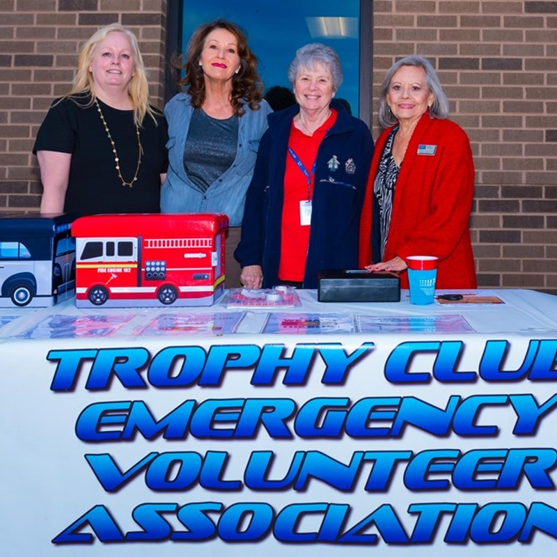 Trophy Club Emergency Volunteer Association Both at the Town Hall opening