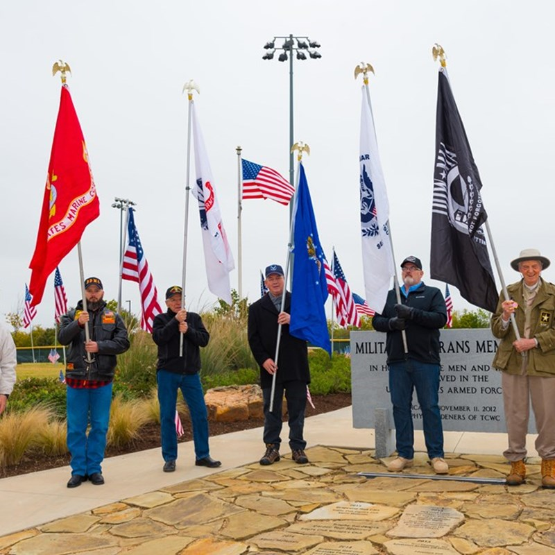 Veterans Day Service at the Veterans Park