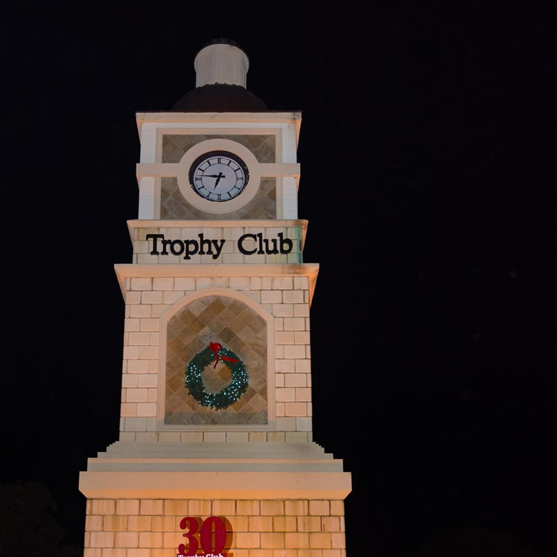The Clock Tower at Christmas time