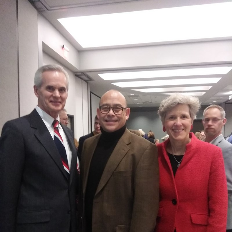 David with Lt. Governor Foley and his wife Susan