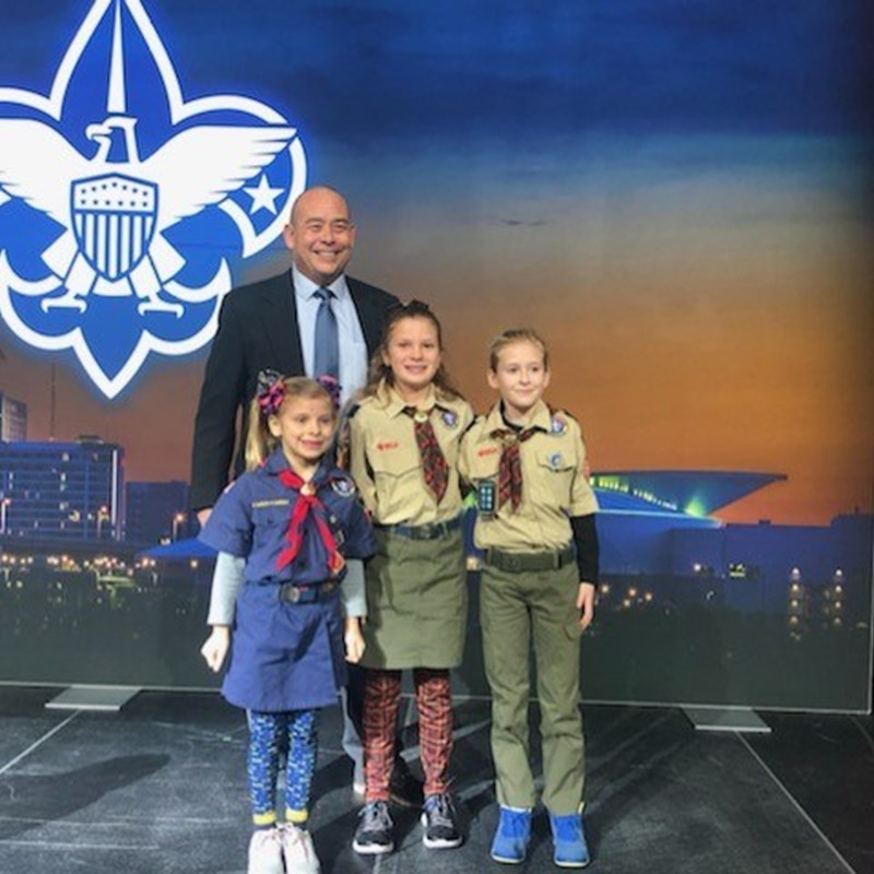David with Scout honorees