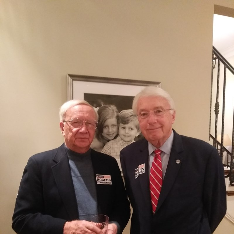 Attendees Jerry Florine and former State Senator Merv Riepe