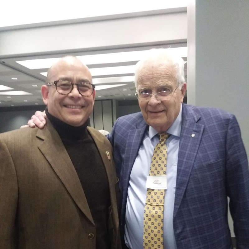 David with John Kellogg, head of Business and Professional People for Life