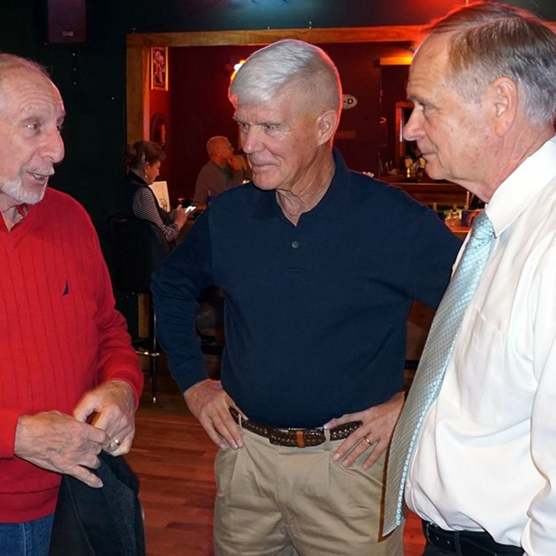 Steve and Campaign Manager Tom Braaten at the Meet and Greet event at Attitudes in River Bend.
