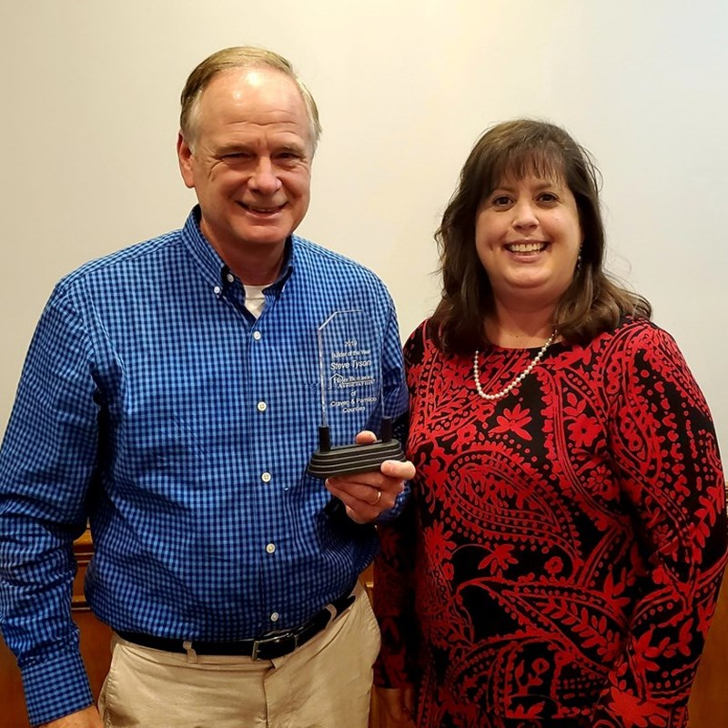 Steve Tyson was named Builder of the Year for 2019 by the Home Builders Associate of Craven and Pamlico Counties at their Annual Awards Banquet.
