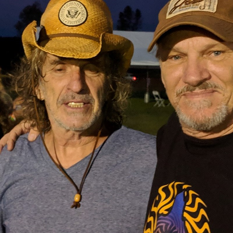 Tom Dye with Corky Laing
