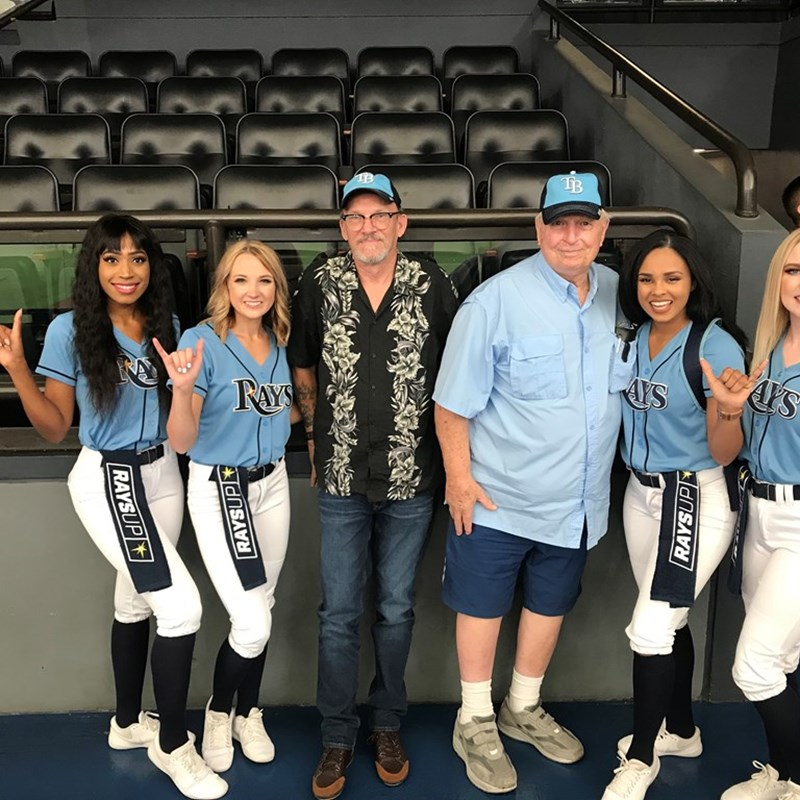 Fathers Day 2019 with Tom Dye, Jerry Dye, and the Tampa Bay Rays cheerleaders
