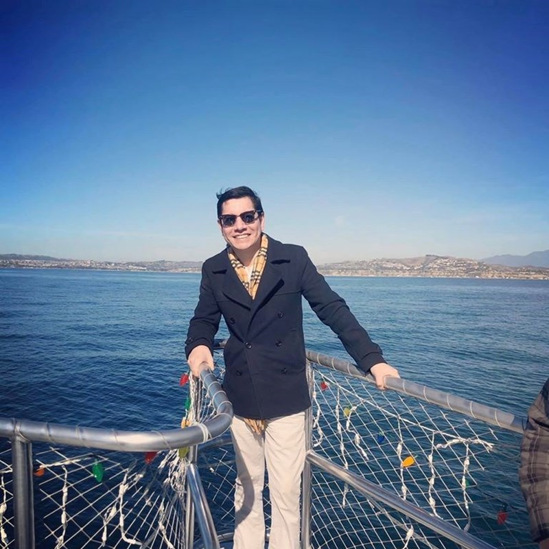 12/19/2019 - Ben has been with his company for 10 years. their entire team spent the day whale watching in Dana Point. They saw dolphins, sea lions and a whale.