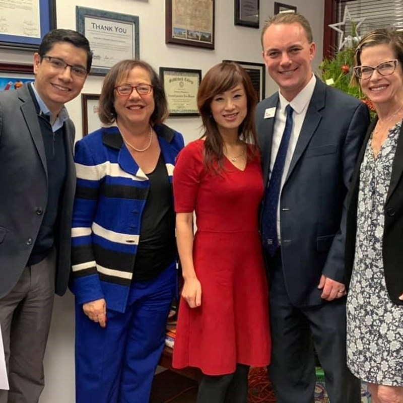 Orange County Supervisors' Holiday Open House. Pictured with local activists and La Habra City Councilman, Tim Shaw.