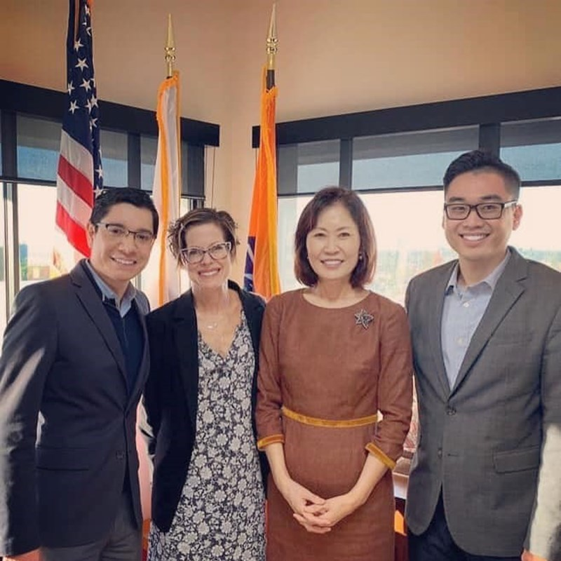 Orange County Supervisors' open house. I'm proudly supporting her for the 48th Congressional District.