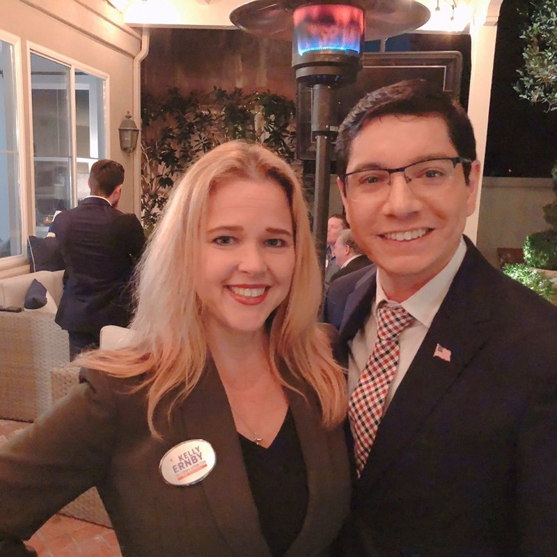 At an event with one strong prosecutor, Kelly Ernby.