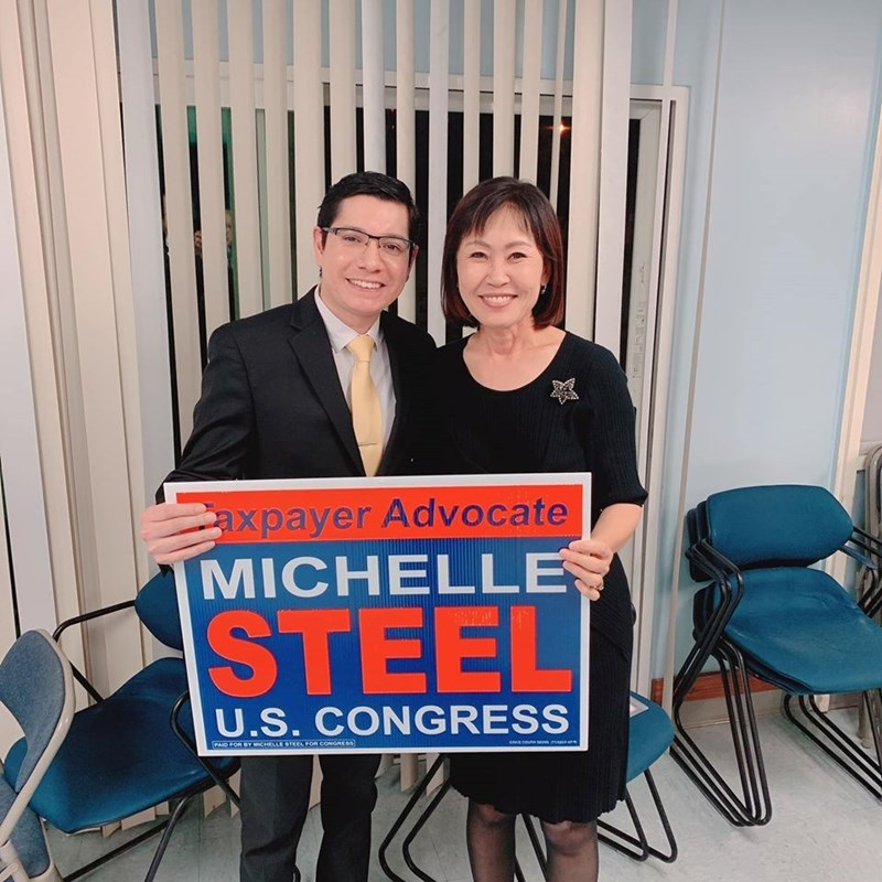 Orange County's Second District Supervisor and candidate for the 48th Congressional District, Michelle Steel. I'm thankful to have her support.