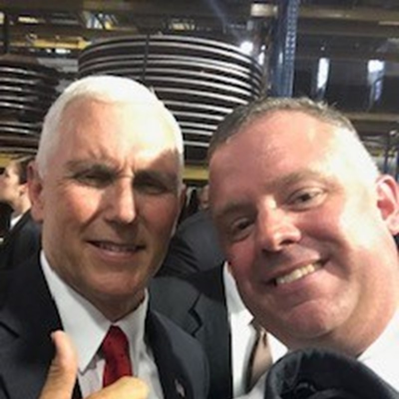 Vice President Mike Pence and I.