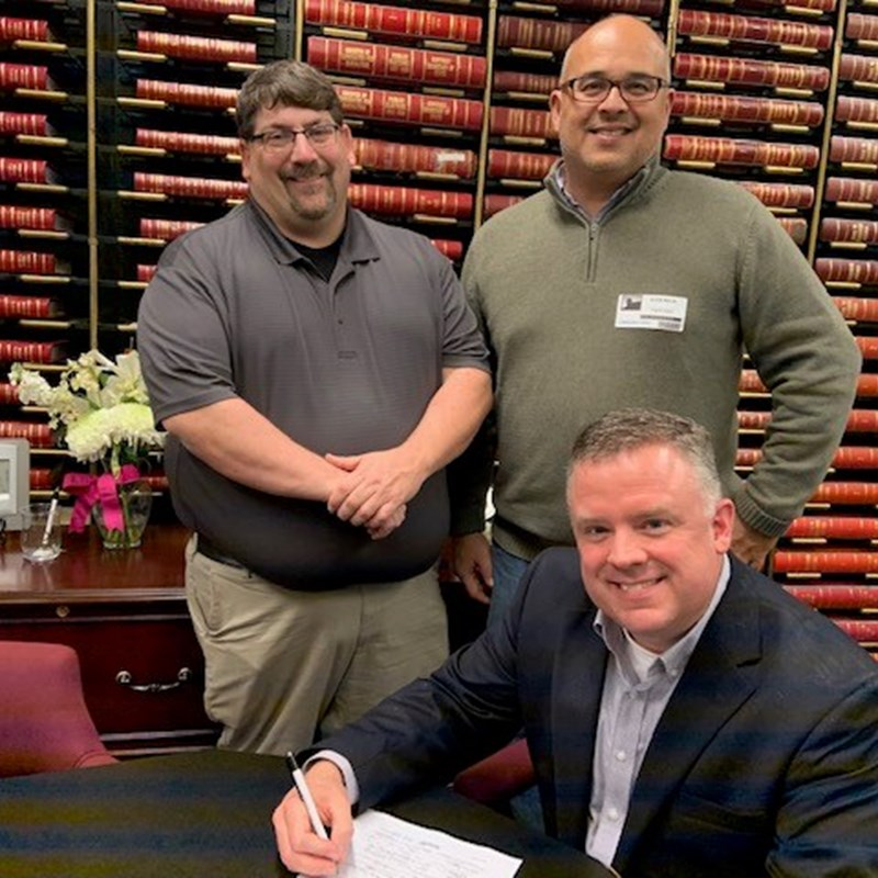 Signing filing papers to run for State Representative
