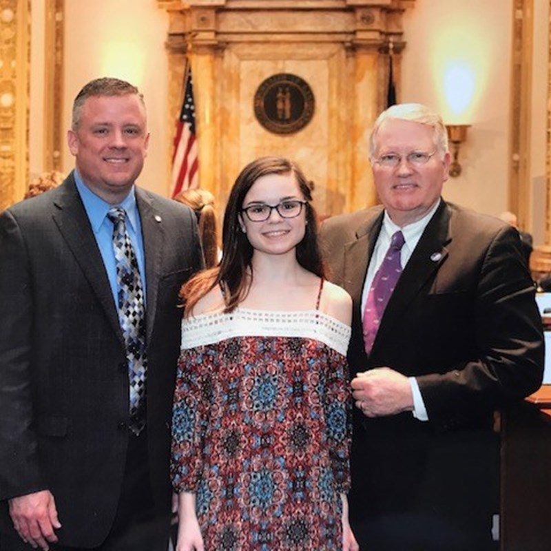 Senator Tom Buford, my daughter and I.  I appreciate his support.