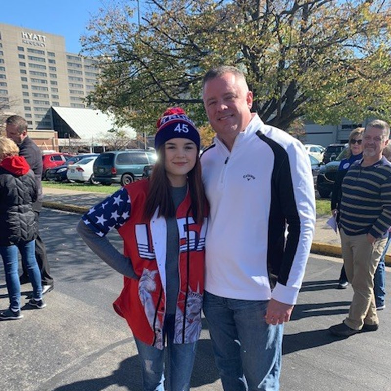 My daughter and I at the Trump rally in Rupp Arena.  I fully support the Trump agenda!