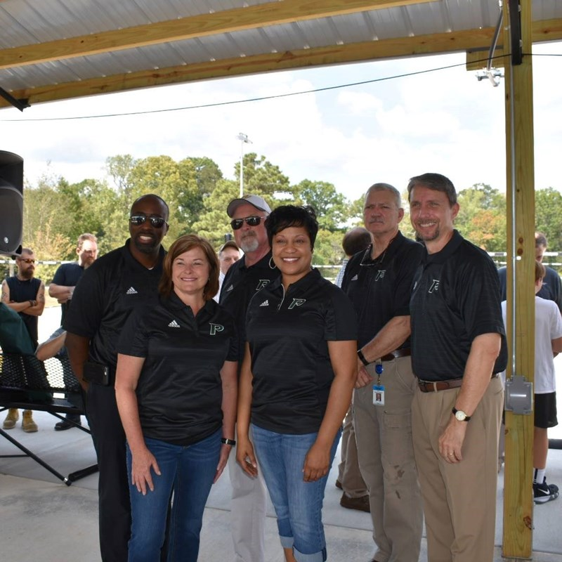 Pelham / Shelby County Outdoor Pavilion , Volleyball, and Basketball courts opening ceremony