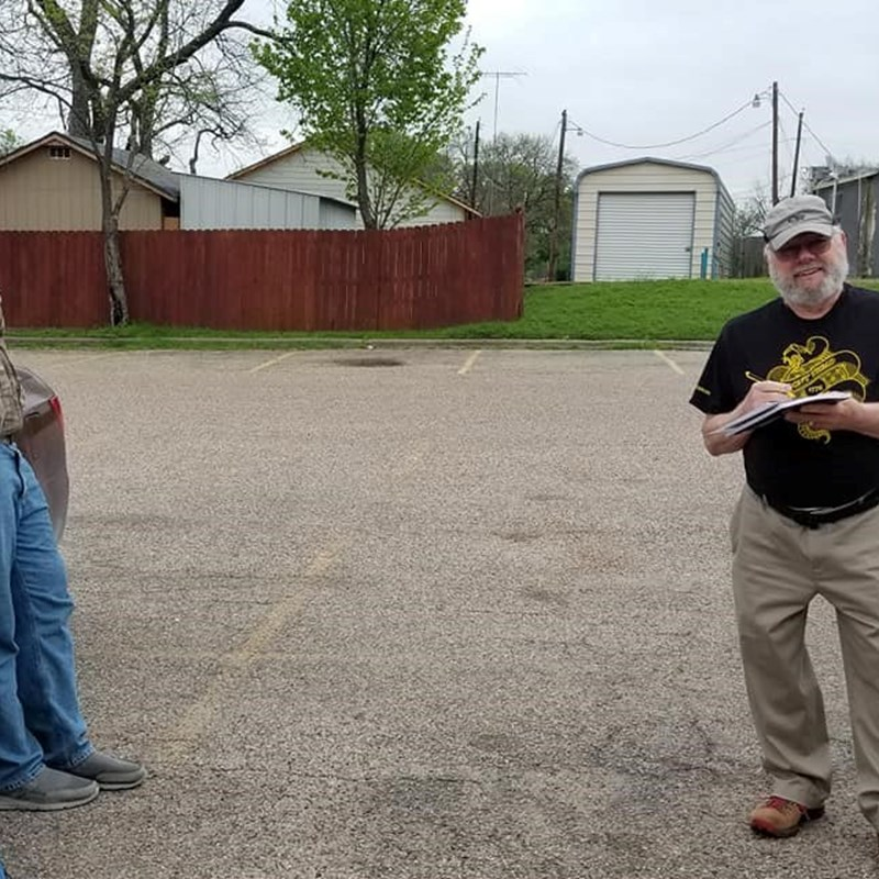 District convention on the parking lot at the Stockade. Nav county Libertarians