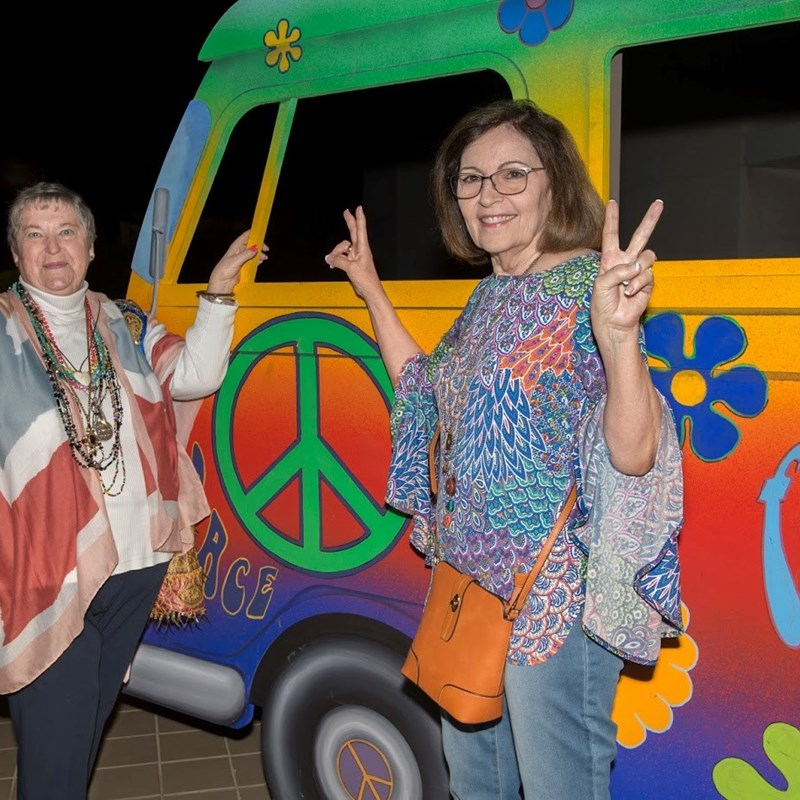 70's theme at Chancellor's Circle Dinner Fundraiser