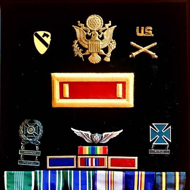Ernie's military decorations as a former US Army Officer.
