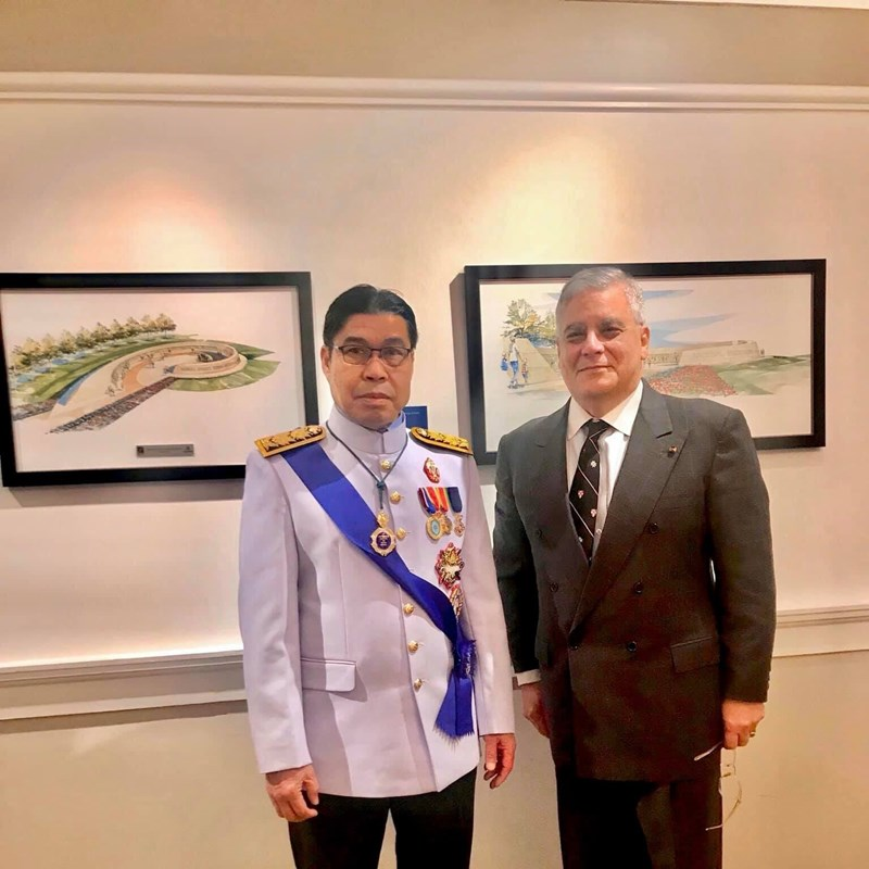As a business executive hosting a diplomatic luncheon in February 10, 2020 for the HRH Prince Sawath Pathanak of Laos on behalf of the Noble Company of Bernardo de Gálvez at the Army and Navy Club in Washington, DC where I am a Knight of the Silver Circle.